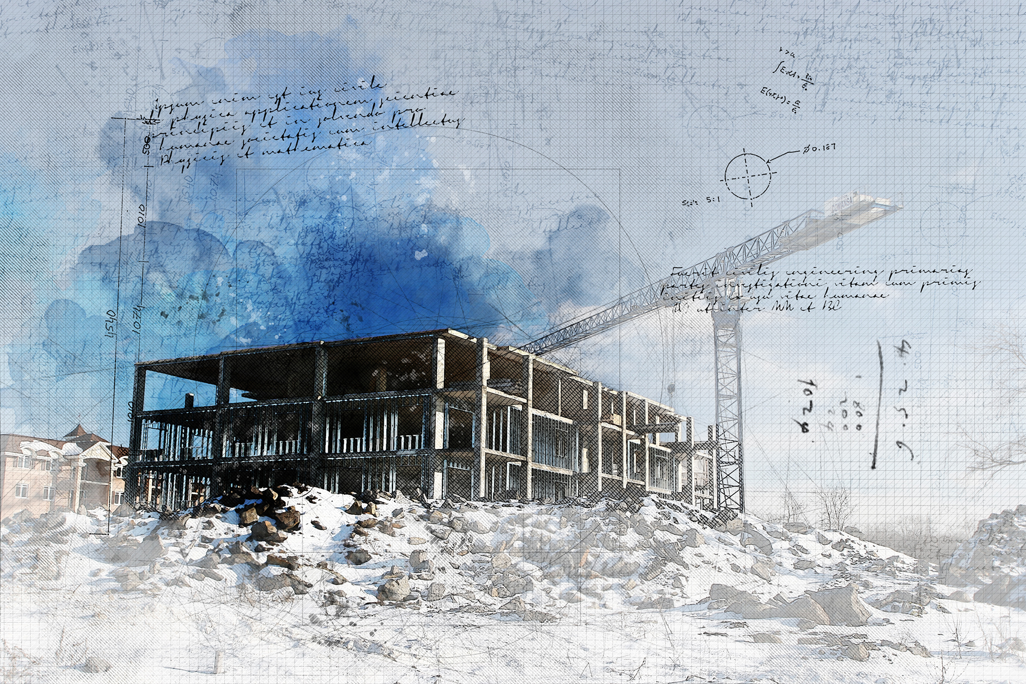 Concept Photo de Projet de construction