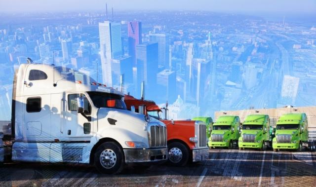 Concept de transport par camions