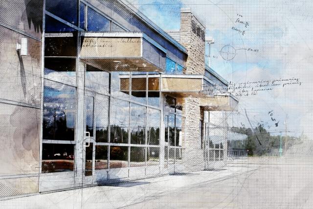 Effet grunge architecture