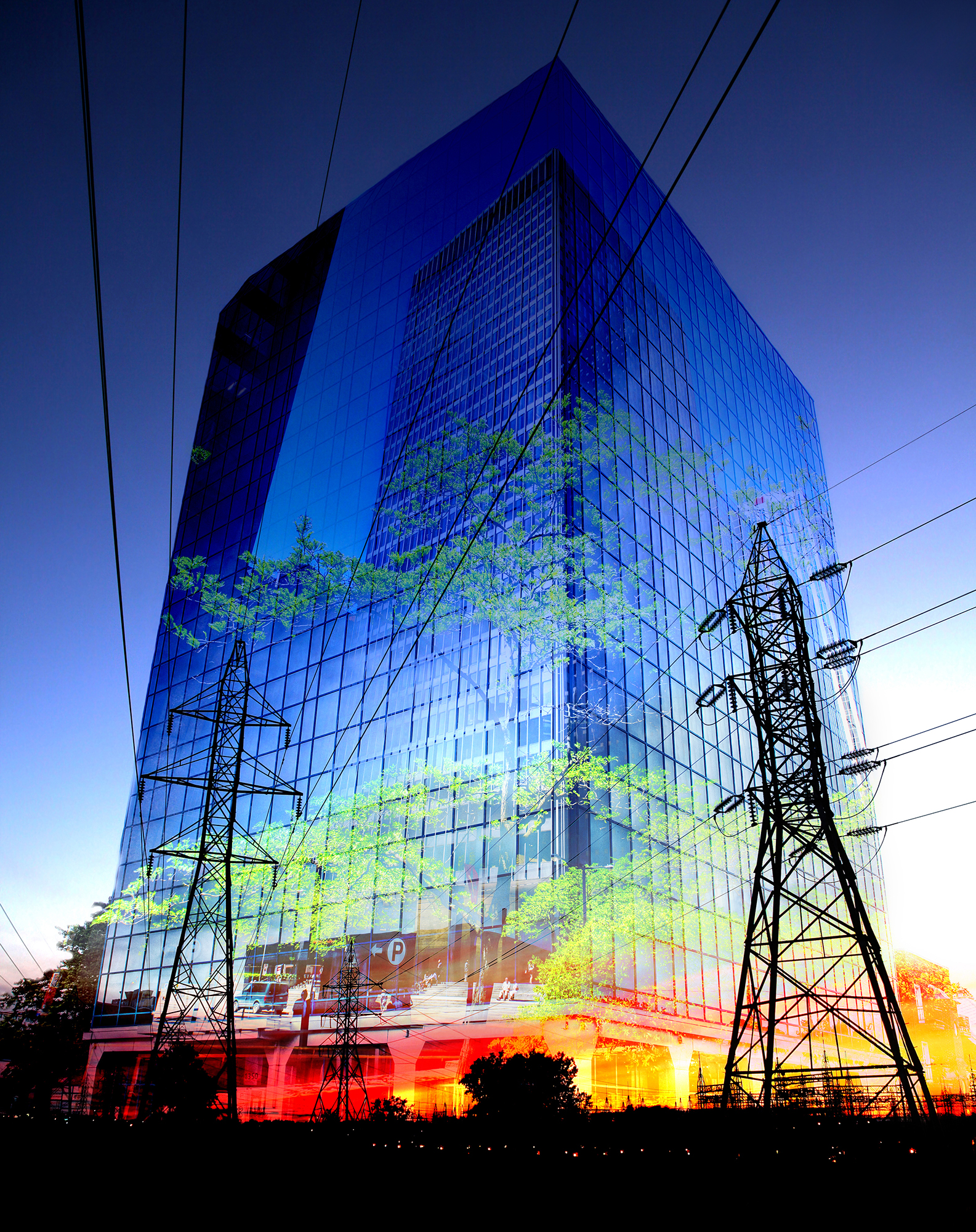 Montage Photo de Concept d électricité