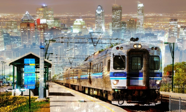 Montage Photo de Concept de Transport en Commun