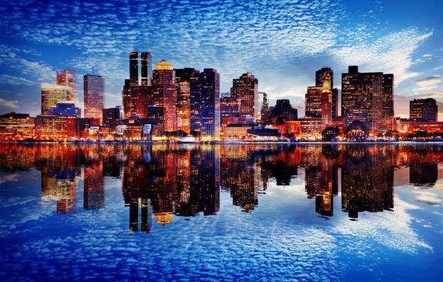 Boston avec effet mirroir