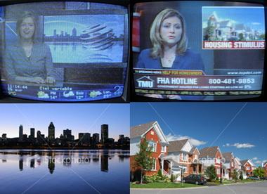 Image de deux émissions de TV