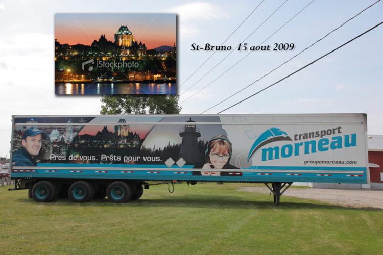 Image sur trailer de camion