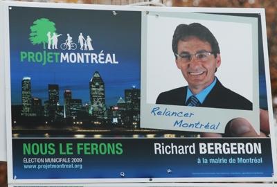 image de Montréal sur une publicité de Projet-Montréal.