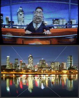 Image de Montreal dans l'émission Gerard D. Laflaque.