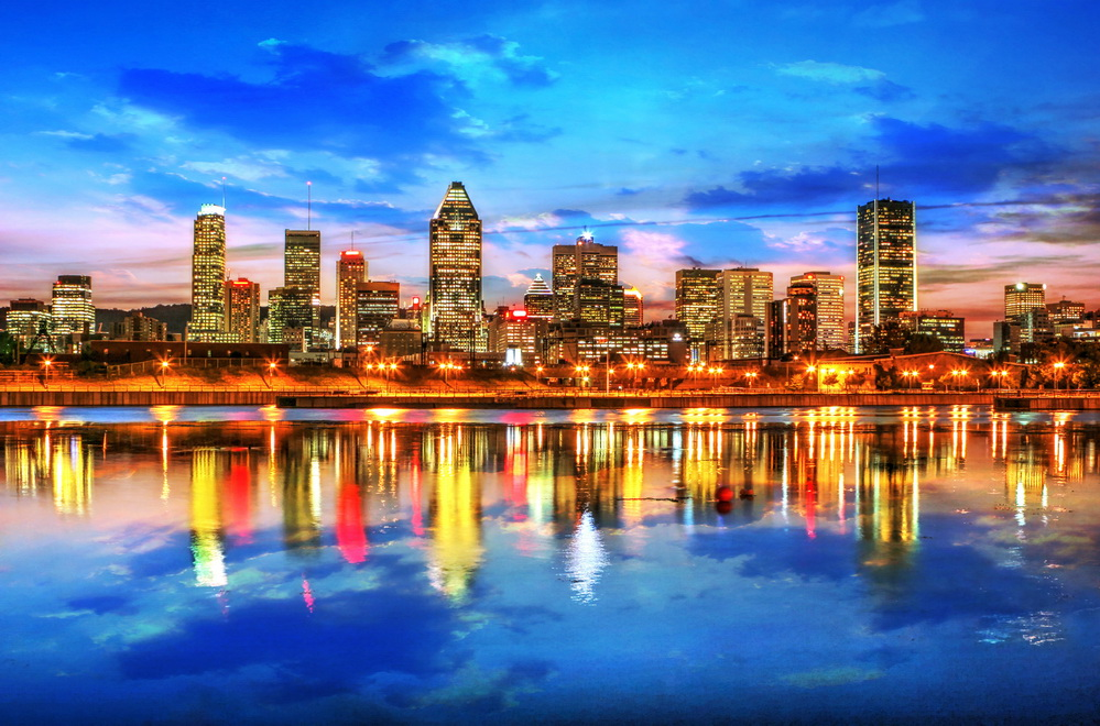 Montreal au coucher de soleil
