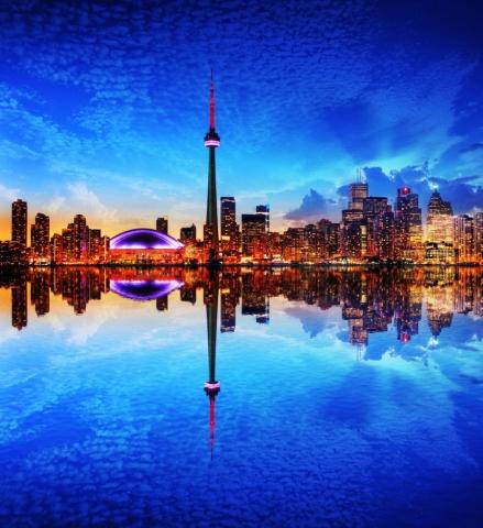 Toronto avec effect miroir