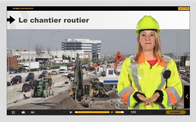 Photo de site de construction utilisée dans un cours de l'AQTR